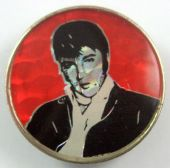 Elvis Presley - 'Red Background' Prismatic Crystal Badge